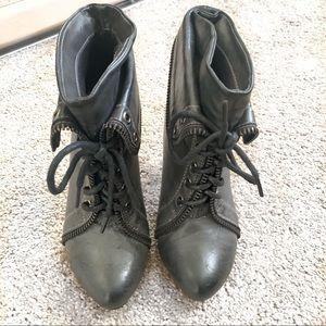 Black/Gray Booties